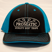 W01V/CAPUS6 Promatic Bright Blue/Black Fitted Cap