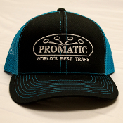 W01V/CAPUS7  Snap Back Vibrant Bright Blue/Black Trucker Hat